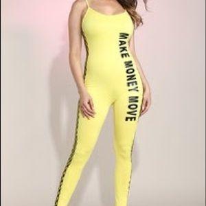 """""""Make money move"""" jumpsuit"""